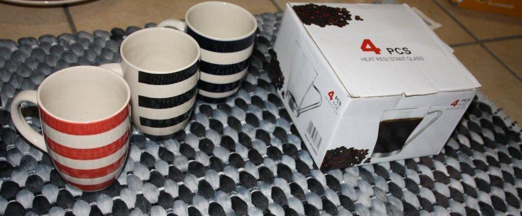 Bullet Mugs & 4pc steel handle mugs