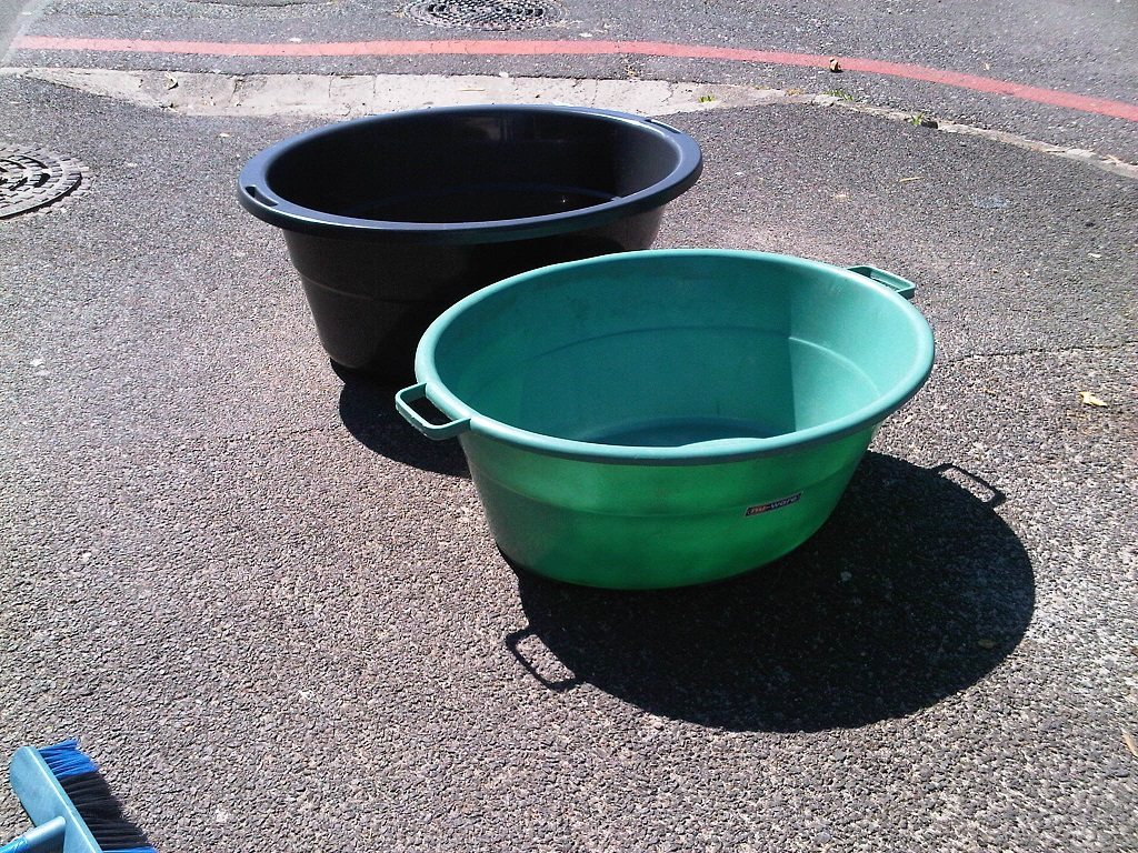 Buckets with handles