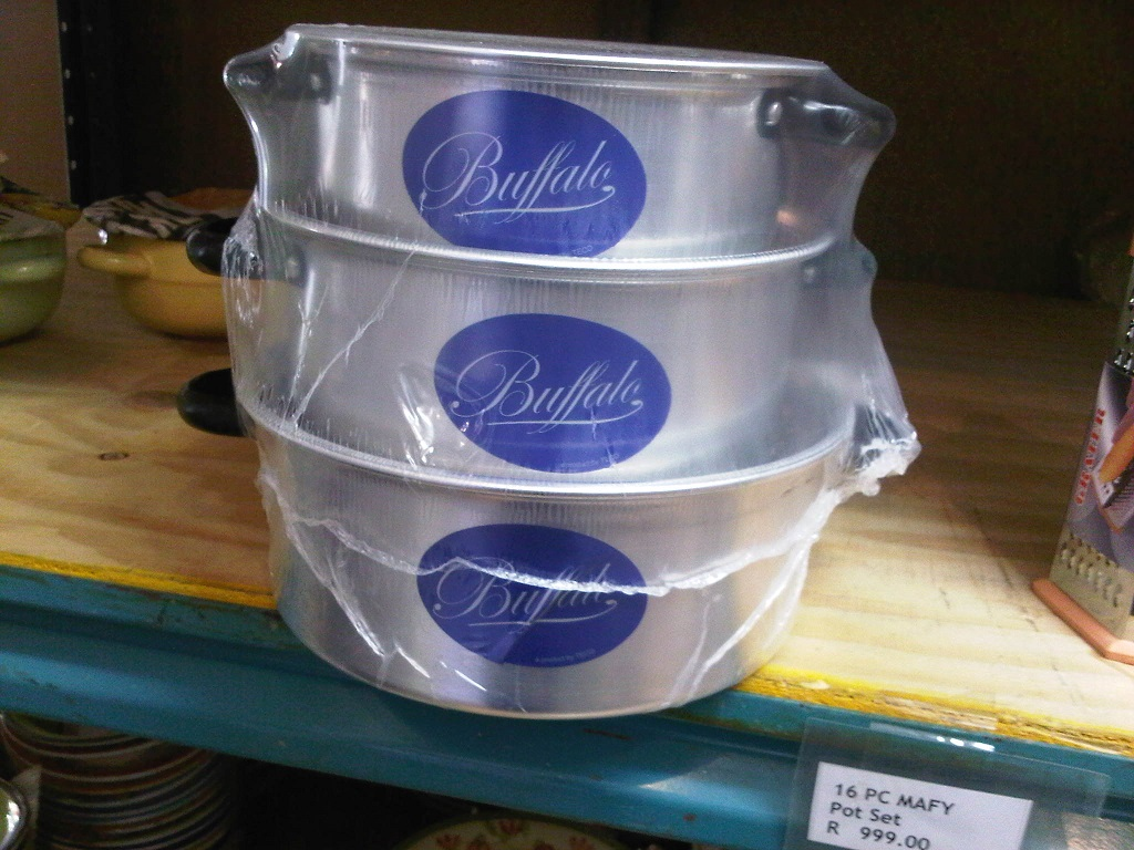 Buffalo 3 piece pot set