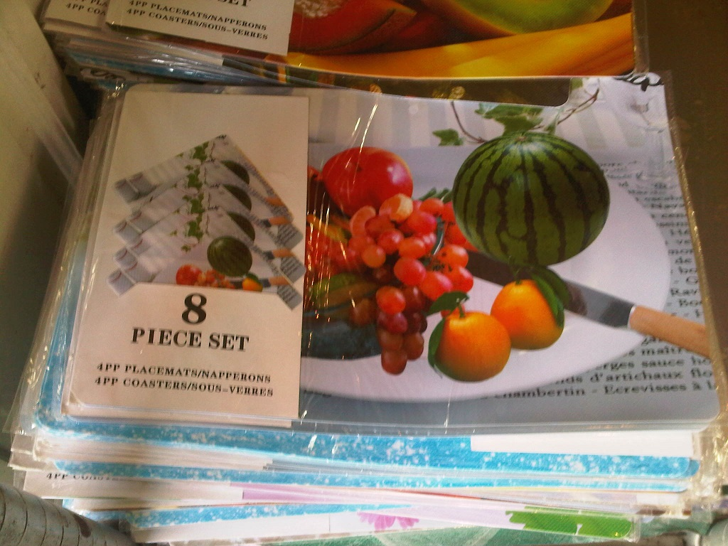 Placemats with coasters