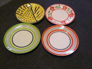 Earthware side plates