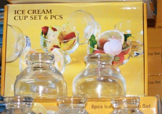 6pc Ice cream cup set