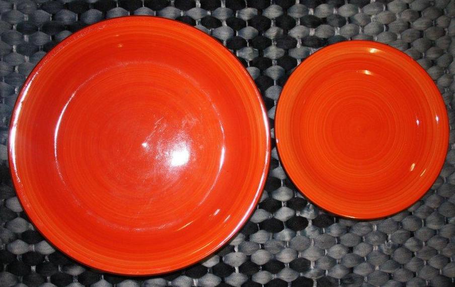 Earthware Dunner & side plate