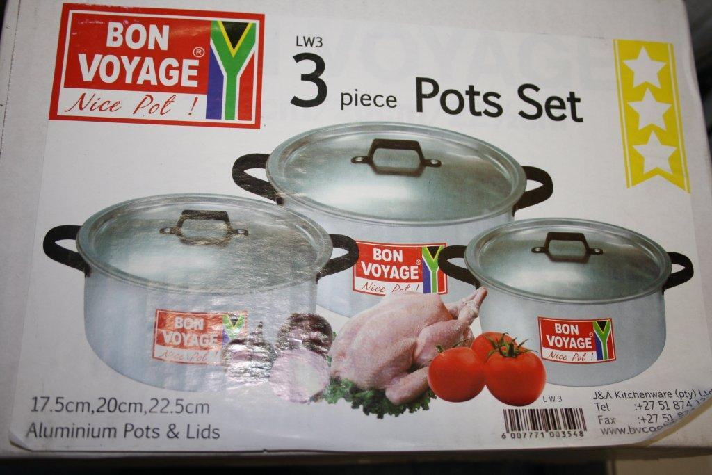 3 pc Pot Set