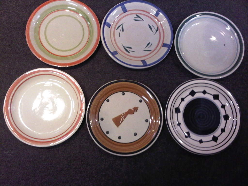 Hand painted side plates